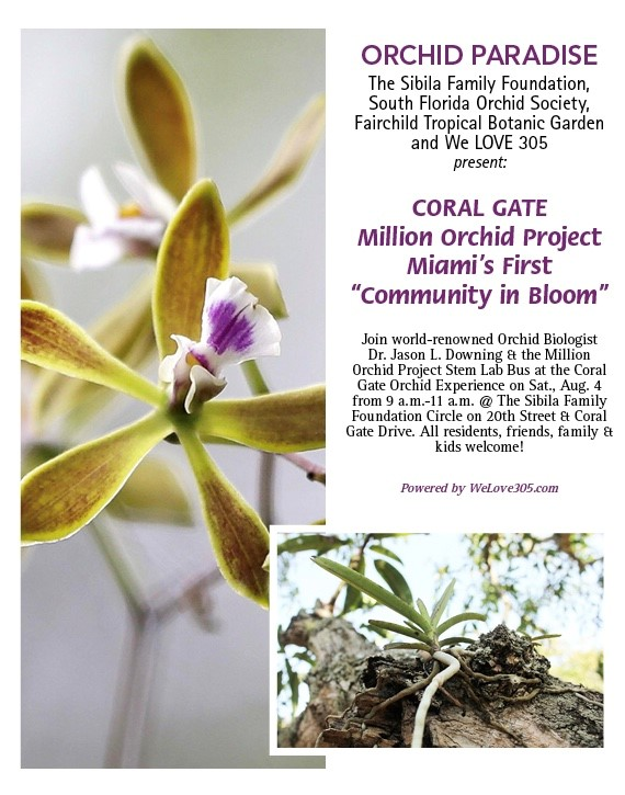 Invitation for the Coral Gate Million Orchid Project Initial Installation Date: August 4, 2018